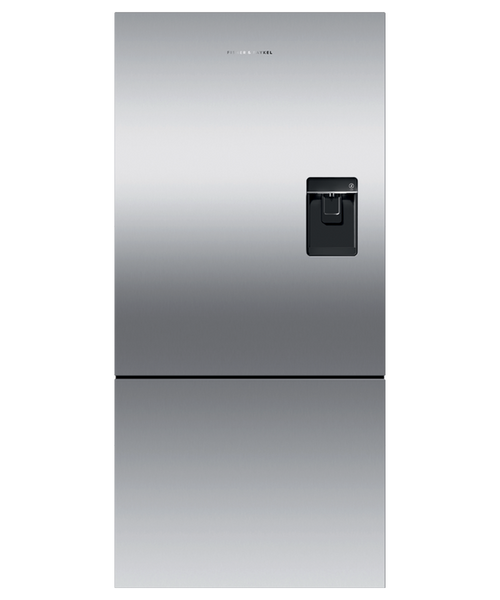 """Fisher & Paykel 32"""" Contemporary Freestanding Fridge w/ Ice & Water - Recessed Handle"""