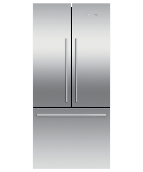 "Fisher & Paykel 32"" Contemporary Freestanding French Door Fridge w/ Ice"