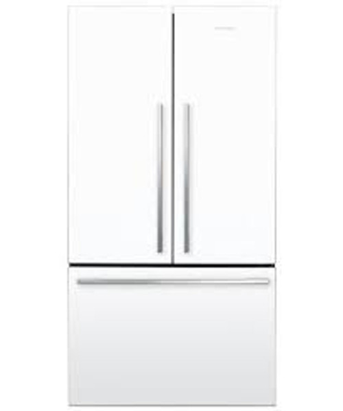 "Fisher & Paykel 36"" Contemporary Freestanding French Door Fridge - White"