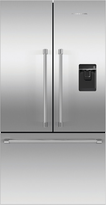 "Fisher & Paykel 36"" Professional Freestanding French Door Fridge w/ Ice & Water"