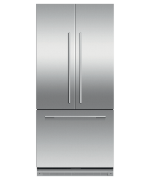 "Fisher & Paykel 32"" Contemporary Integrated French Door Fridge w/ Ice"