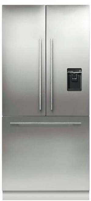 "Fisher & Paykel 36"" Contemporary Integrated French Door Fridge w/ Ice & Water - Tall"