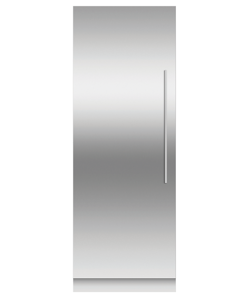 "Fisher & Paykel 30"" Contemporary Integrated Freezer Column w/ Stainless Steel Interior"