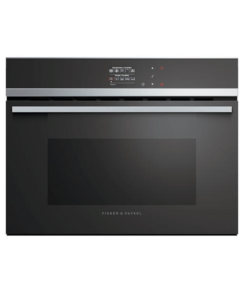 "Fisher & Paykel 24"" Contemporary Combination Steam Oven w/ Stainless Steel Trim"