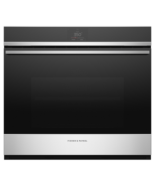 """Fisher & Paykel 30"""" Contemporary Wall Oven w/ Stainless Steel Trim - 17 Functions"""