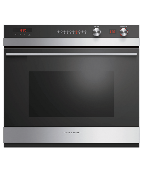 """Fisher & Paykel 30"""" Contemporary Wall Oven w/ Stainless Steel Trim - 11 Functions"""