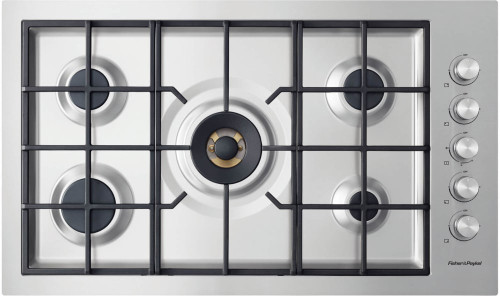 """Fisher & Paykel 36"""" Contemporary Gas Cooktop w/ 5 Burners - Flush Fit"""