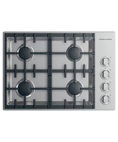 """Fisher & Paykel 30"""" Professional Gas Cooktop w/ 4 Burners - Halo Control"""