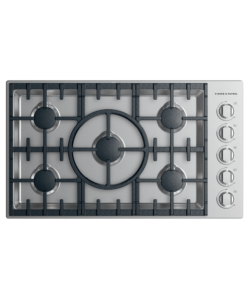 """Fisher & Paykel 36"""" Professional Gas Cooktop w/ 5 Burners"""