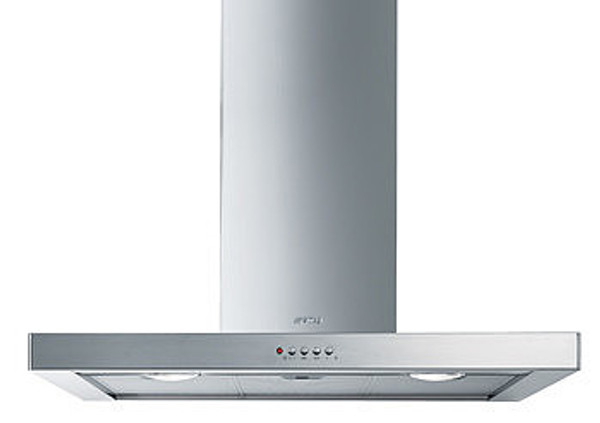 "Smeg 36"" Chimney Wall Hood - Flat Design"