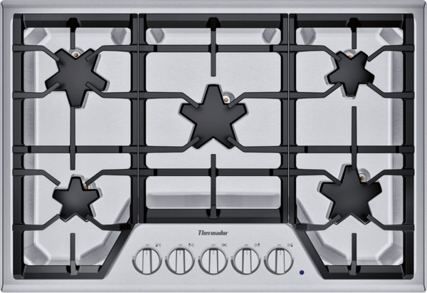 """Thermador 30"""" Gas Cooktop w/ Stainless Steel Control Panel"""