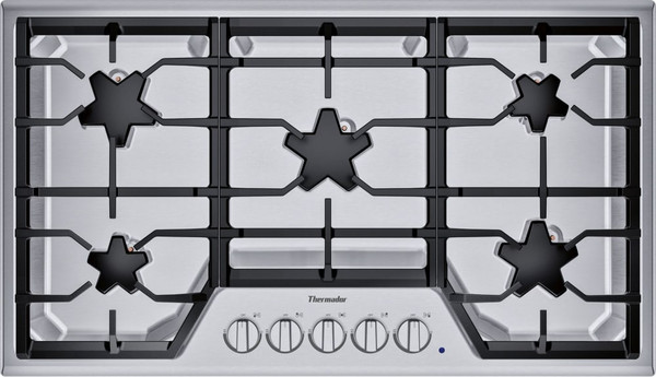 """Thermador 36"""" Gas Cooktop w/ Stainless Steel Control Panel"""