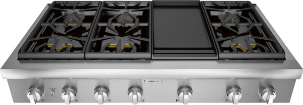 """Thermador 48"""" Professional Rangetop w/ Electric Griddle"""