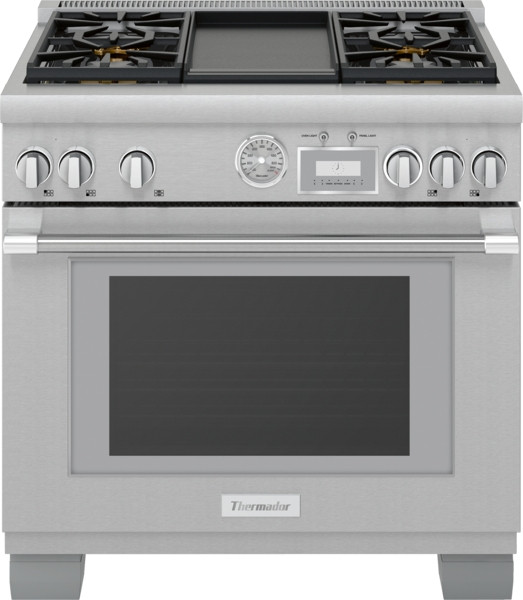 "Thermador 36"" Dual Fuel Grand Pro Range w/ Electric Griddle"
