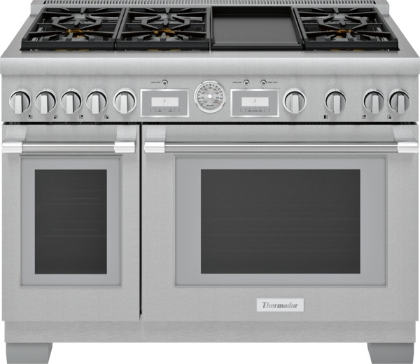"Thermador 48"" Gas Grand Pro Range w/ Electric Griddle"
