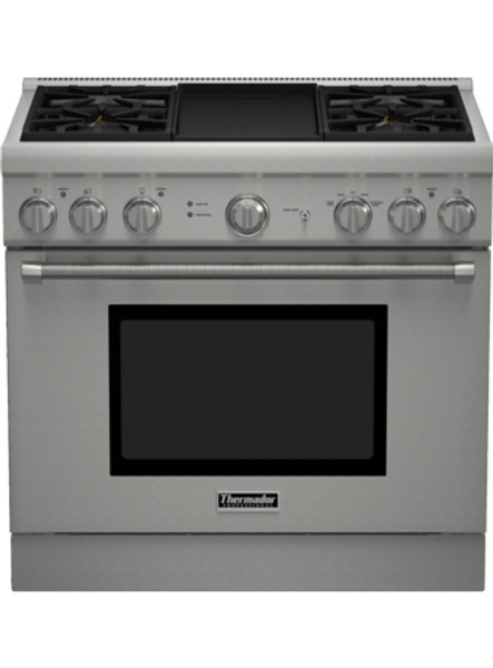 "Thermador 36"" Gas Harmony Pro Range w/ Electric Griddle"