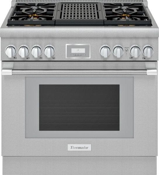 "Thermador 36"" Gas Harmony Pro Range w/ Electric Grill"