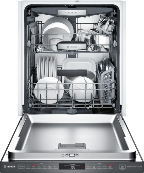 Bosch 800 Series Pocket Handle Dishwasher - Black Stainless