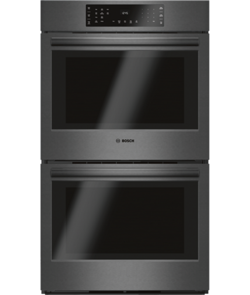 """Bosch 30"""", 800 Series, Double Wall Oven - Black Stainless"""