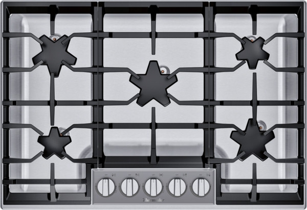 """Thermador 30"""" Gas Cooktop - Extra Low Simmer w/ Glass Control Panel"""