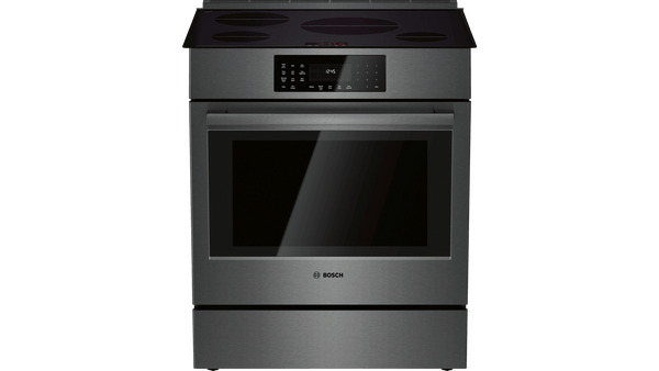 Bosch Induction 800 Series Slide-In Range - Black Stainless