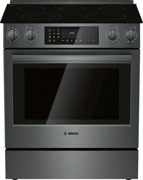 Bosch Electric 800 Series Slide-In Range - Black Stainless