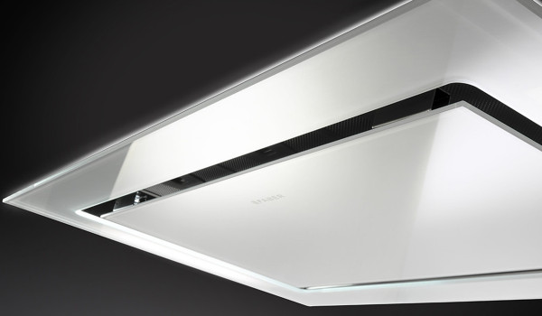 """Faber Stratus 48"""" Ceiling Hood - WH Glass"""