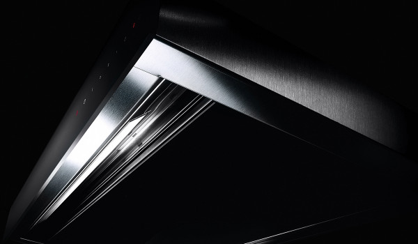 """Faber Scirocco Lux 30"""" Down Draft Hood - Black Glass"""