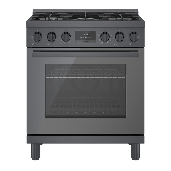 "Bosch 30"" Dual Fuel Pro Range - Black Stainless"