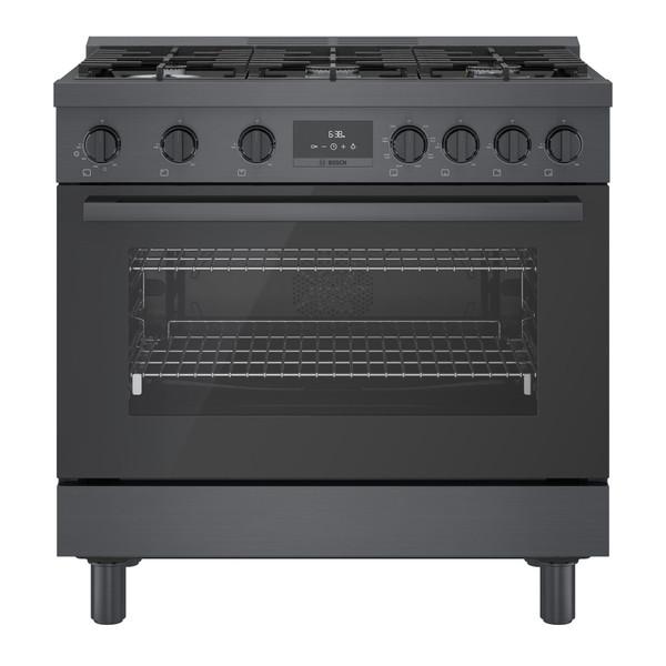 "Bosch 36"" Dual Fuel 800 Series Pro Range - Black Stainless"