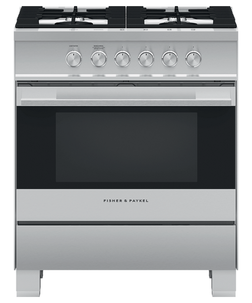 "Fisher & Paykel 30"" Contemporary Gas Range"