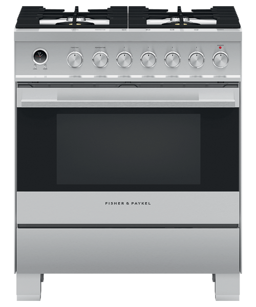 """Fisher & Paykel 30"""" Contemporary Dual Fuel Range"""