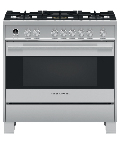 """Fisher & Paykel 36"""" Contemporary Dual Fuel Range"""