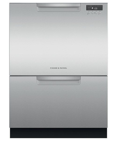 Fisher & Paykel Contemporary Stainless Steel Full Size Dishwasher - Double Drawer w/ Water Softener