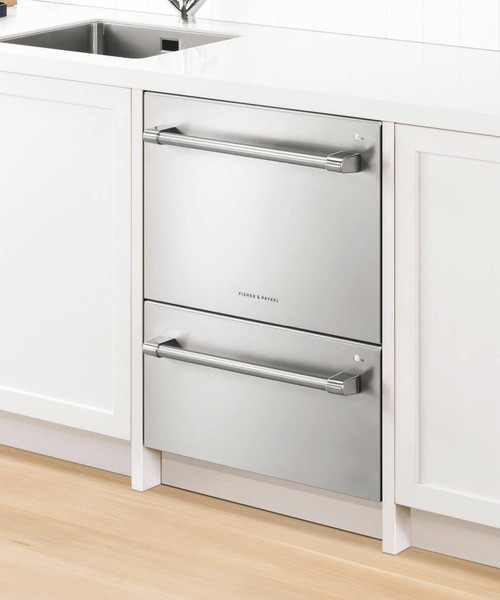 Fisher & Paykel Contemporary Custom Panel Ready Full Size Dishwasher - Double Drawer w/ Water softener