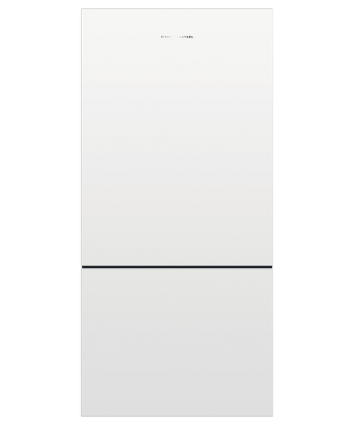 """Fisher & Paykel 32"""" Contemporary Freestanding Fridge w/ White Design - Recessed Handle"""