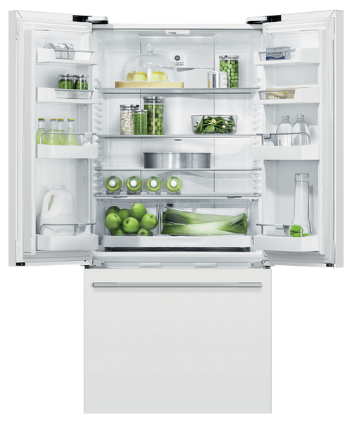 "Fisher & Paykel 32"" Contemporary Freestanding French Door Fridge - White"