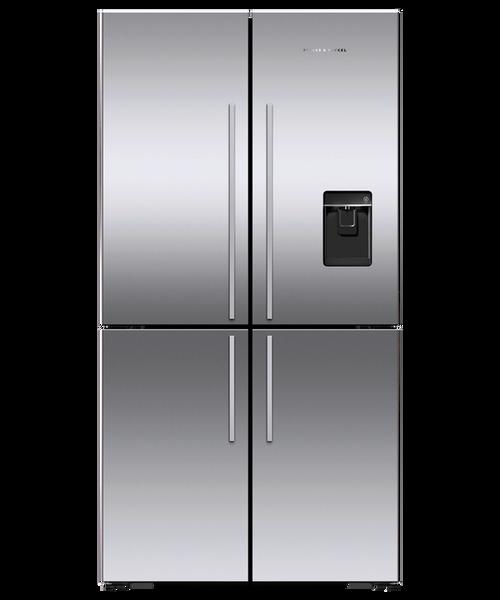 """Fisher & Paykel 36"""" Contemporary Freestanding French Door Fridge w/ Ice & Water - Four Door Design"""