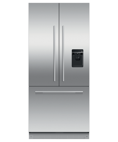 "Fisher & Paykel 32"" Contemporary Integrated French Door Fridge w/ Ice & Water"