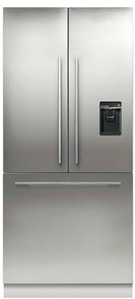 """Fisher & Paykel 36"""" Contemporary Integrated French Door Fridge w/ Ice & Water - Tall"""