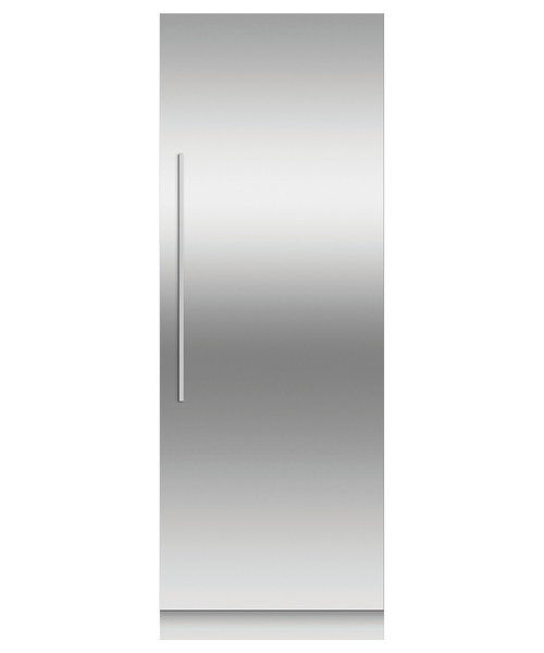 "Fisher & Paykel 30"" Contemporary Integrated Fridge Column w/ Stainless Steel Interior"