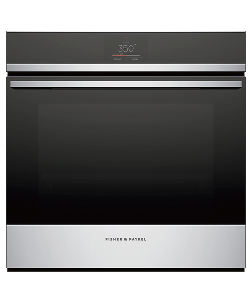 """Fisher & Paykel 24"""" Contemporary Wall Oven w/ Stainless Steel Trim"""
