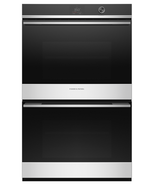 """Fisher & Paykel 30"""" Contemporary Double Wall Oven w/ Stainless Steel Trim - 17 Functions"""