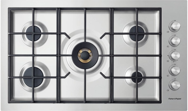 "Fisher & Paykel 36"" Contemporary Gas Cooktop w/ 5 Burners - Flush Fit"