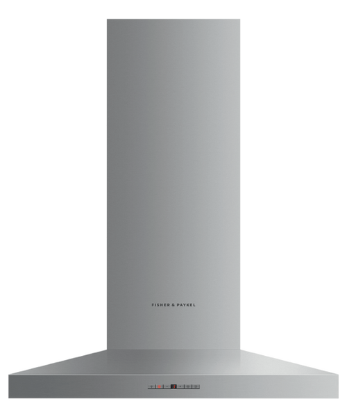 "Fisher & Paykel 30"" Contemporary Pyramid Chimney Hood"