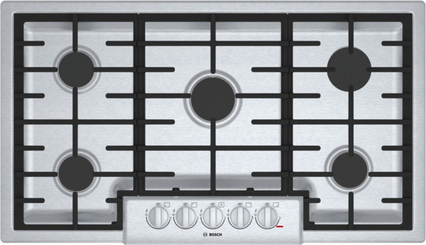 """Bosch 36"""" 800 Series Gas Cooktop - Stainless"""