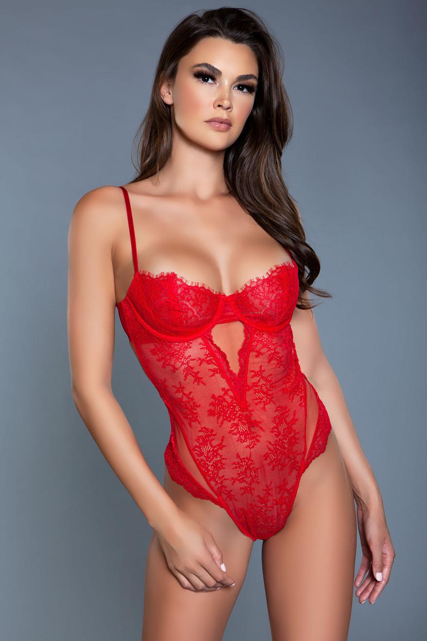 2078 Ariella Bodysuit Red