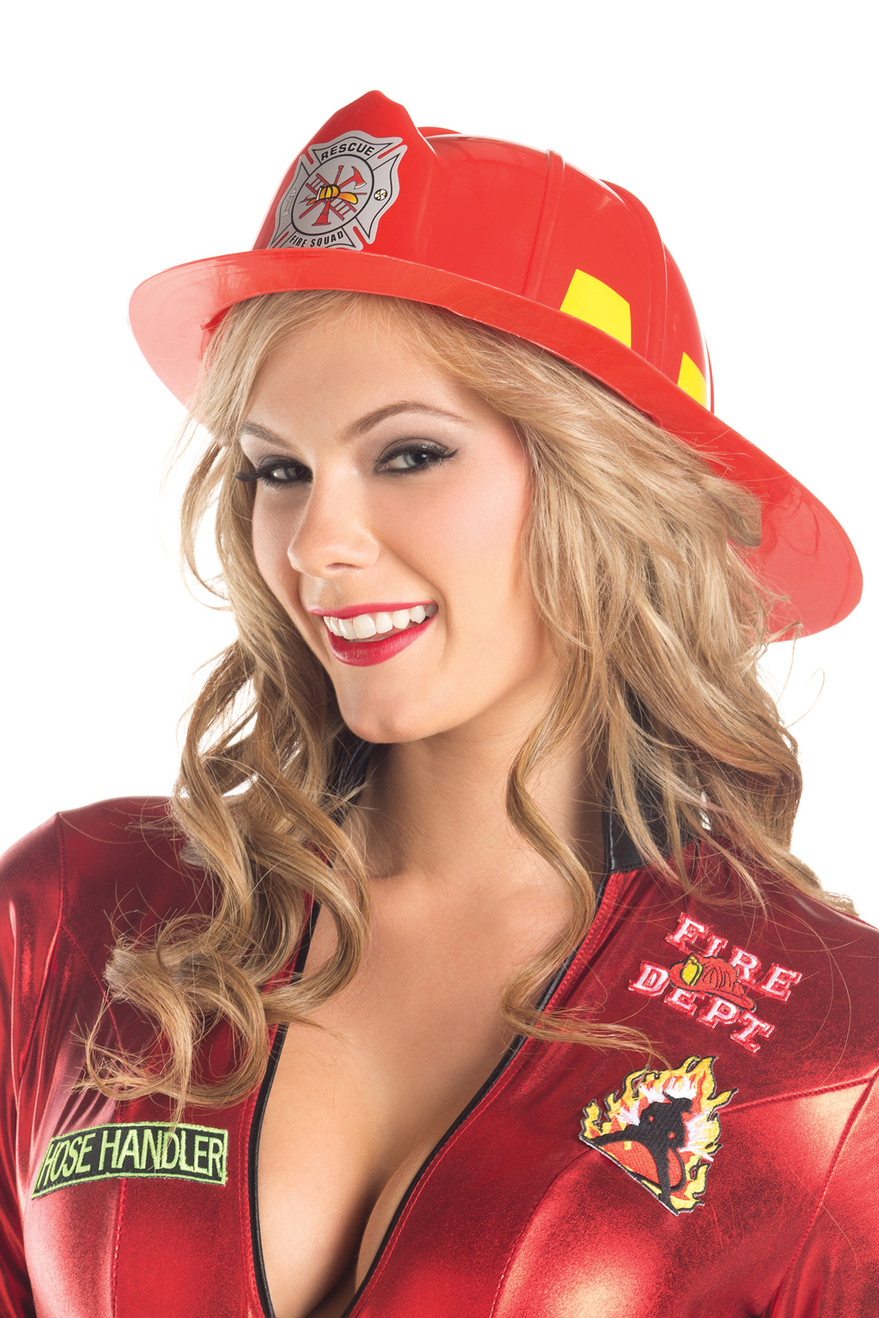 BW0710RD Fire Fighter Hat - Red