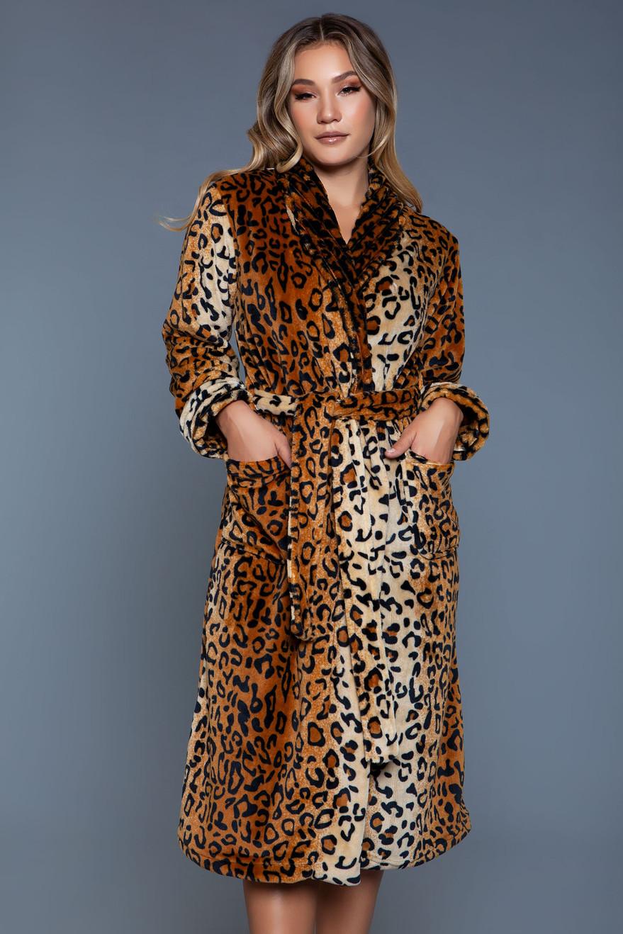 2071 Leopard Robe