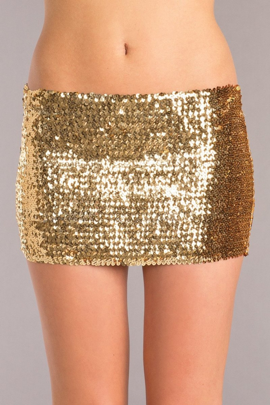 BW1677GD Sequin Skirt - Gold